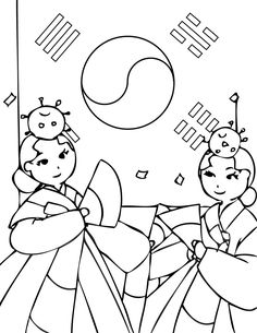 korea coloring page | The Cutest Blog