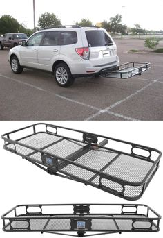 Compatible with the Subaru Forester, the Pro Series Cargo Carrier for 2 hitches is an awesome idea for freeing up space in the car on long road trips. Pack camping, hiking, and other accessories and gear safely and efficiently! Camping Must Haves, Best Camping Gear, Camping Style, Hiking Gear, Tent Camping, Outdoor Camping, Camping Ideas, Truck Camping, Diy Camping