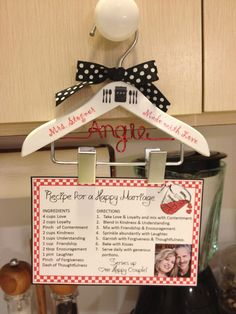 Recipe Hanger / Recipe Holder / Housewarming Gift / Wedding Gift- Hangs on Kitchen Cabinet Knob. $19.99, via Etsy.