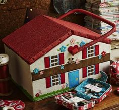Chalet Sewing Basket from Cath Kidston - straight to the top of my wishlist!