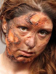 Ooh, burn!  Makeup by Margaux Cabuy Modeled by Nour Bitar #cms #cinema #makeup #school