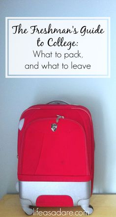 Stressed out about what to bring for your dorm room? Worried about forgetting something, or bringing so much it doesn't fit? Here's one list of what things to bring and what to leave at home! Read the rest at lifeasadare.com