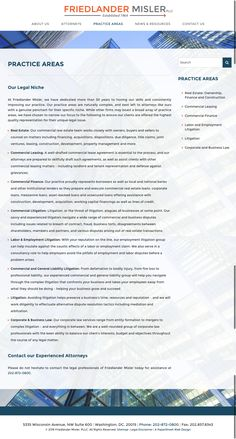 Legal practice area page by PaperStreet