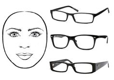 Eyeglass frames for round face shape:Rectangular frames will help to sharpen the soft curves of a rounded face. Frames with sharp angles will also help to lengthen the face and a clear bridge will widen the eyes. Try to pick frames that are more horizontal than vertical, and avoid anything too circular or oval.