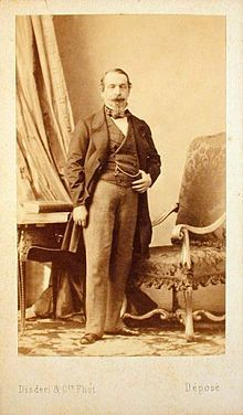 1859 Carte de visite of Napoleon III by Disdéri, which popularized the CDV format.