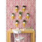 Gypsy Red Damask Wallpaper Sample