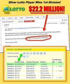 Silver Lotto System : How To Win The Lottery 9 Out Of 10 Times