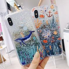 Cartoon Whale Coral Dynamic Liquid Quicksand Glitter Case For Xiaomi Mi 8 Mix Redmi 5 Plus Note 5 Pro Cover Coque - Best of Wallpapers for Andriod and ios Cute Phone Cases, Iphone Phone Cases, Phone Charger, Phone Covers, Iphone 8 Plus, Iphone7 Case, Cartoon Whale, Glitter Iphone 6 Case, Wallpaper Aesthetic
