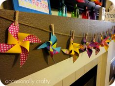 Occasionally Crafty: Summer Mantel, for now