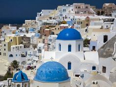 Santorini-Greece. The Aegean Sea gem of Santorini is part of the Cyclades volcanic archipelago. A good deal of the the island's architecture, from Santorini hotels to private villas, is built on high cliffs. As a result this island of natural white, black and red beaches offers remarkable views.