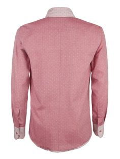 Cock & Bull Menswear // Slim Fit Cherry Pink Organic Cotton Chambray Shirt // Tissu Chambray à pois Cerise, Amandine Cha -- Les Trouvailles d'Amandine