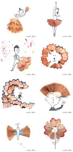 repurpose pencil shavings