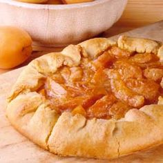 Country Apricot Tart This low calorie summer dessert tart recipe has rustic appeal and taste with its pleated cornmeal crust.