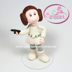 Princesa Leia, inspirada en Star Wars, Video paso a paso en porcelana fria