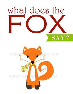 What Does the Fox Say Christmas Cards set by MyPaperCelebrations, $6.50