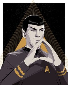 """""""Spock"""" silkscreen print. http://hcgart.com/collections/drake2/products/spock-by-craig-drake"""