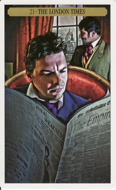 The London Times (The World) - Sherlock Holmes Tarot