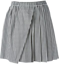 $173, White and Black Gingham Skater Skirt: No.21 N21 Gingham Skirt. Sold by farfetch.com. Click for more info: https://lookastic.com/women/shop_items/147069/redirect