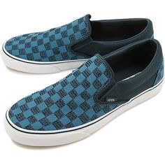 53b239d1d8 Vans Classic Slip-On (Stitch Checkers) Blue Mirage Midnight