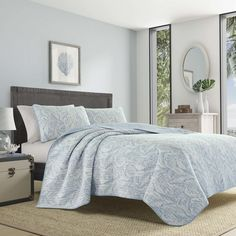 Shop for Tommy Bahama Batik Paisley Quilt Set. Get free delivery On EVERYTHING* Overstock - Your Online Fashion Bedding Store! Get in rewards with Club O! Bed Sheets Online, Cheap Bed Sheets, Beach Quilt, Paisley Quilt, Batik Quilts, Home Decor Bedding, Bed Reviews, Luxury Bedding Sets, Quilt Sets