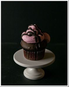 Devil's Food Cupcakes with Roasted Strawberry-Balsamic Buttercream