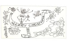 Artist Saul Steinberg sent this card to curator Dorothy Miller in 1945.