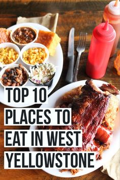 Top 10 Places to Eat In (And Near) West Yellowstone, Montana! Headed to Yellowstone National Park this summer and coming or going through the west entrance? With over 30 options in the tiny town of West Yellowstone we want to make sure you eat at the rig West Yellowstone Montana, Visit Yellowstone, Yellowstone Vacation, Yellowstone National Park, National Parks, Wyoming Vacation, Ireland Vacation, Grand Teton National Park, Ireland Travel