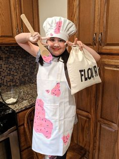 Children's Baker costume, pastry chef, girls costume, boys costume, halloween co… – Kostüm Karneval
