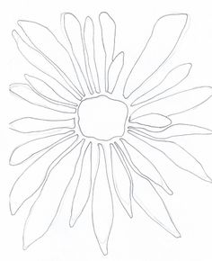 Simple Flower Shapes | Then I drew a simple flower shape. A line drawing devoid of a lot of ...