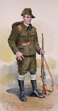 Piechur polski 1918 - infantryman in Military Gear, Military History, Military Uniforms, Russian Revolution 1917, Interwar Period, Army Uniform, Military Diorama, World War One, Armed Forces