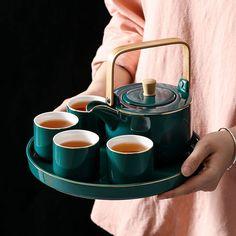 Teapot set black tea home decoration table, furniture ceramic pottery tea cup set – Tableware Design 2020 Pottery Teapots, Ceramic Teapots, Ceramic Cups, Ceramic Pottery, Vintage Ceramic, Tea Pot Set, Pot Sets, Teapot Design, Teapots Unique