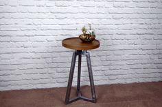 American Black Walnut and End Table, Side Table, Modern Industrial Chic by escafell on Etsy https://www.etsy.com/uk/listing/471227009/american-black-walnut-and-end-table-side