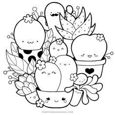 doodle art cute ~ doodle art - doodle art journals - doodle art for beginners - doodle art easy - doodle art patterns - doodle art drawing - doodle art creative - doodle art cute Cute Doodle Art, Doodle Art Designs, Doodle Art Drawing, Cute Art, Doodle Doodle, Cactus Doodle, Drawing Step, Doodle Art Letters, Mandala Doodle