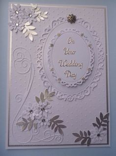 ✔ 20 pretty picture of silver wedding invitations 00014 Wedding Day Cards, Wedding Shower Cards, Wedding Cards Handmade, Wedding Anniversary Cards, Making Greeting Cards, Greeting Cards Handmade, Pretty Cards, Love Cards, Spellbinders Cards