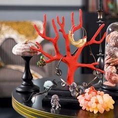 Un porte-bijou en forme de branche de corail / Doors-jewels, coral, Shell