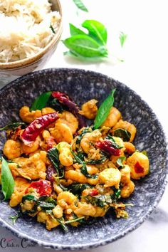 """""""Thai Basil shrimp stir fry– This Thai basil shrimp is going to be your favourite, It is SO SO GOOD! The flavours of Thai basil, garlic and soy sauce gives you the multidimensional flavour, quite easy to make. It is Absolutely Sensational! I had a bunch of Thai basil in my garden, I totally love the flavours of Thai basil it's quite different from the Italian basil. It has the aroma of mint and anise. The combo of Shrimp +Thai basil is simply delicious and aromatic and with some spi"""