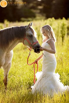 just love the horse on her wedding day...they look so peaceful