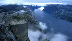 Preikestolen cliff, Norway