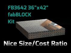 FabBlock Kit - CertiFlat FB3642 FabBlock U-Weld Kit Modular Welding Table