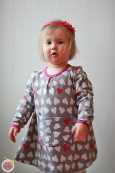 Heart dress from Nosh organic cotton jacquard