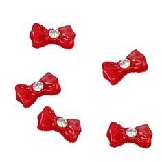 Φιογκάκια πλαστικά κόκκινα