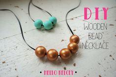 Hello Kelcey: DIY Wooden Bead Necklace