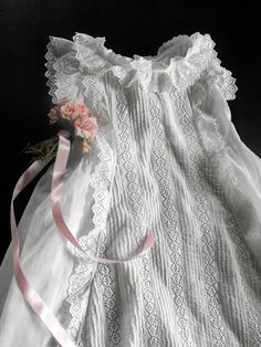 beautiful and dainty Christening gown