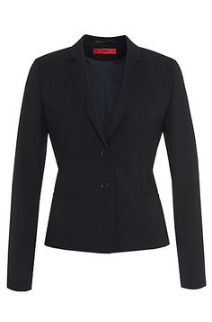 Blazer in new-wool blend with elastane: 'Afrona'