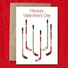 hockey sticks valentine s day card hockey valentines pinterest