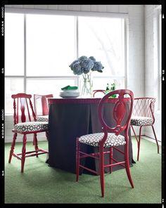 VINTAGE & CHIC: decoración vintage para tu casa · vintage home decor: Sillas de comedor en rojo [] Red dining chairs