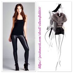 "Small Vegan Leather Leggings Matte faux leather leggings with an elastic waistband. Black.  ⭐️90% Polyester 10% Spandex ⭐️Made in USA ⭐️Inseam: 27"" ⭐️ NWOT directly from vendor  ✨2 regular priced items receive 15% discount.  ✨3 or more regular priced items receive 20% discount Boutique Pants Leggings"