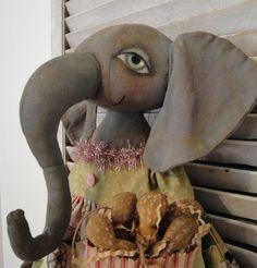 EPATTERN+Primitive+Folk+Art+Elephant+Circus+by+thevintagepolkadot,+$15.00