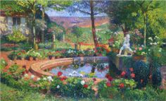 Fountain in the Park Marquayro - Henri Martin