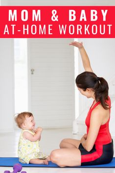 Many new mothers want to exercise after giving birth but making time for workouts post-partum is the biggest challenge. The solution? Workout WITH your baby at home! For this at-home workout, you only need a good pair of shoes, a mat and your baby! Ab Core Workout, Step Workout, Toning Workouts, Strength Workout, Easy Workouts, At Home Workouts, Workout Fitness, Muscle Building Workouts, Weight Loss For Women